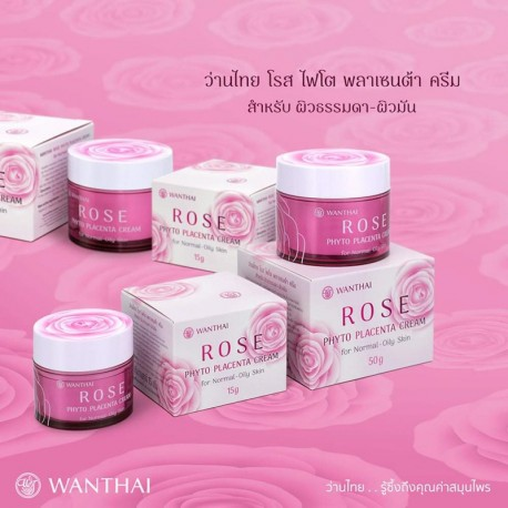 Wanthai Rose Phyto Placenta Cream - Normal to Oily Skin